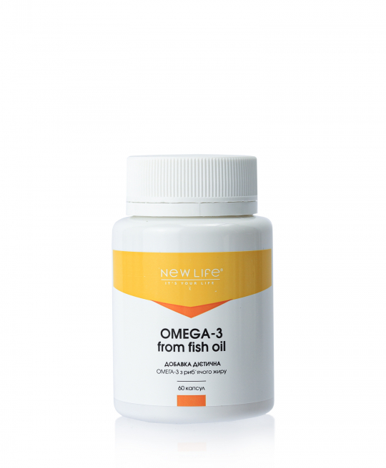 OMEGA-3 FROM FISH OIL | ОМЕГА-3 ИЗ РЫБЬЕГО ЖИРА | 60 КАПСУЛ В БАНОЧКЕ